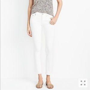 J. Crew Midrise Skinny Jeans in White Denim Sz. 29